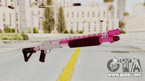 GTA 5 Pump Shotgun Pink para GTA San Andreas
