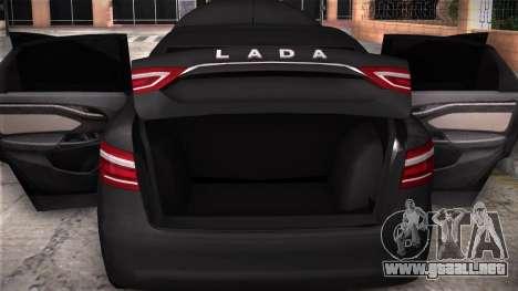 Lada Vesta Stoke para GTA San Andreas vista hacia atrás
