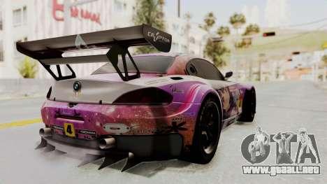 BMW Z4 GT3 Tobisawa Misaki para GTA San Andreas left