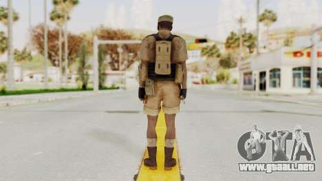 MGSV Phantom Pain CFA Combat Vest 2 v1 para GTA San Andreas tercera pantalla