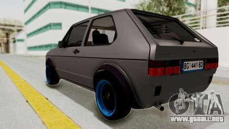 Volkswagen Golf 1 para GTA San Andreas left