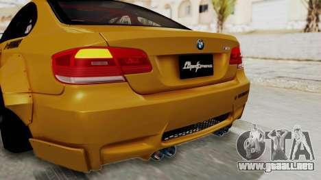 BMW M3 E92 Liberty Walk para GTA San Andreas interior