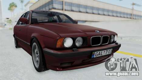 BMW 525i E34 1994 LT Plate para GTA San Andreas vista posterior izquierda