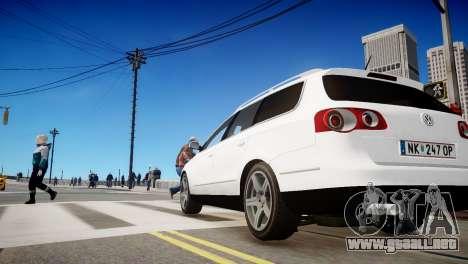 Volkswagen Passat Variant 2010 V1 para GTA 4 vista hacia atrás