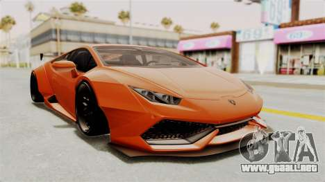 Lamborghini Huracan Libertywalk Kato Design para GTA San Andreas vista posterior izquierda
