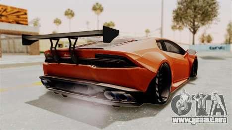 Lamborghini Huracan Libertywalk Kato Design para GTA San Andreas left