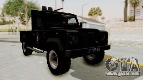 Land Rover Defender SAJ para la visión correcta GTA San Andreas