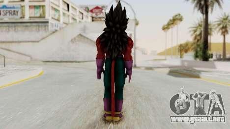 Dragon Ball Xenoverse Vegeta SSj4 para GTA San Andreas tercera pantalla