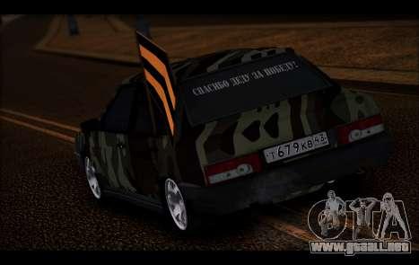 VAZ 21099 para GTA San Andreas vista hacia atrás