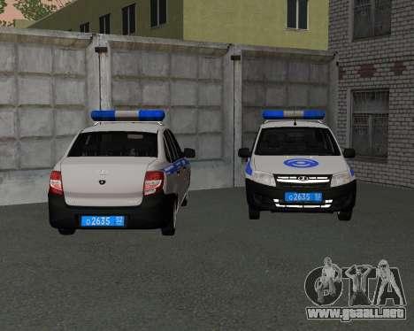 Lada Granta de seguridad Privada para GTA San Andreas left
