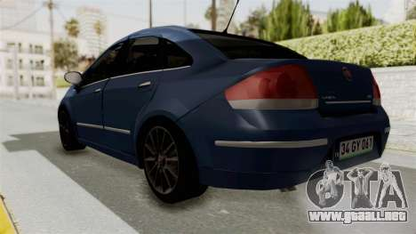 Fiat Linea 2011 para GTA San Andreas vista posterior izquierda