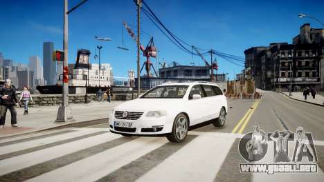 Volkswagen Passat Variant 2010 V1 para GTA 4 left