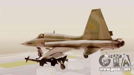 Northrop F-5E Tiger II JASDF para la visión correcta GTA San Andreas