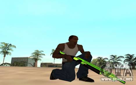 Green chrome weapon pack para GTA San Andreas sucesivamente de pantalla