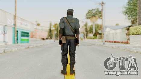 MGSV Phantom Pain Zero Risk Security LMG v1 para GTA San Andreas tercera pantalla