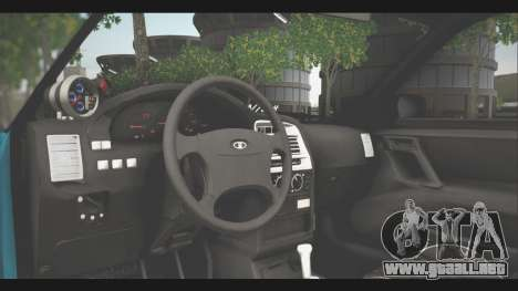 VAZ 21123 para GTA San Andreas vista hacia atrás