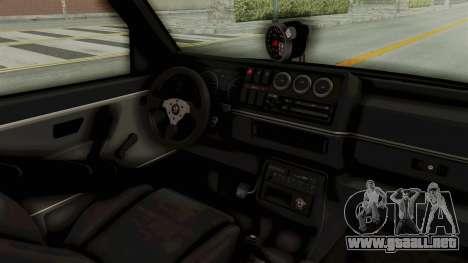 Volkswagen Jetta 2 para visión interna GTA San Andreas