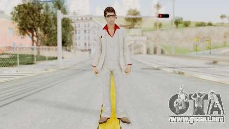 Scarface Tony Montana Suit v4 with Glasses para GTA San Andreas segunda pantalla