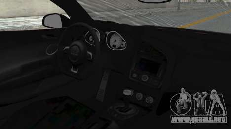 Audi R8 Spyder 2014 LB Work para GTA San Andreas vista hacia atrás