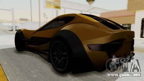 Felino CB7 para GTA San Andreas vista posterior izquierda