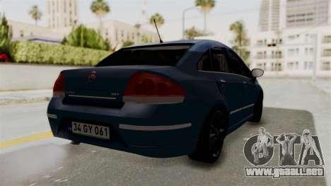 Fiat Linea 2011 para GTA San Andreas left