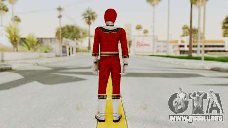 Power Ranger Zeo - Red para GTA San Andreas tercera pantalla