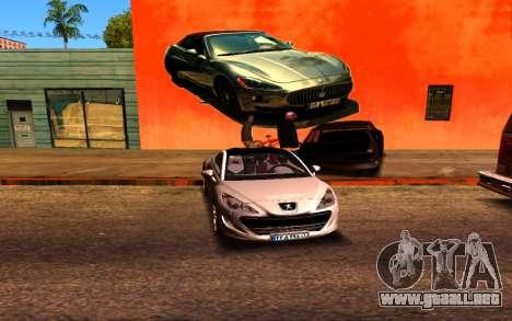 Maserati Wall Grafiti para GTA San Andreas tercera pantalla