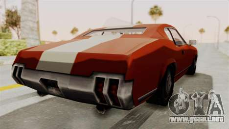 Beta VC Sabre Turbo para GTA San Andreas left