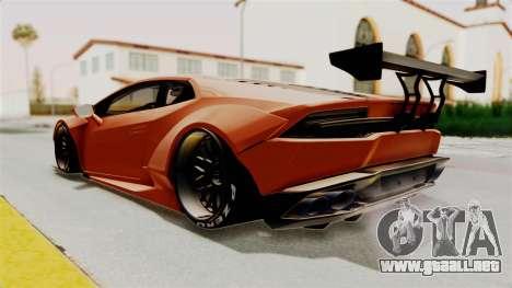 Lamborghini Huracan Libertywalk Kato Design para la visión correcta GTA San Andreas