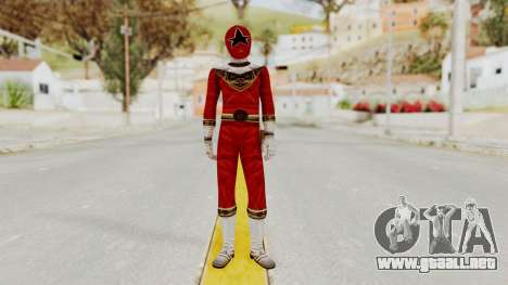 Power Ranger Zeo - Red para GTA San Andreas segunda pantalla
