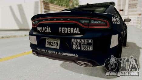 Dodge Charger RT 2016 Federal Police para vista inferior GTA San Andreas