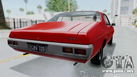 Holden Monaro GTS 1971 AU Plate HQLM para GTA San Andreas left