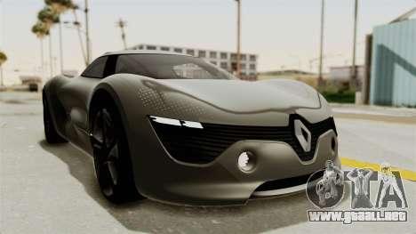 Renault Dezir Concept para GTA San Andreas vista posterior izquierda