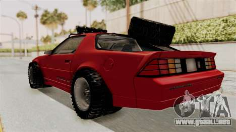 Chevrolet Camaro 1990 IROC-Z Rusty Rebel para GTA San Andreas vista posterior izquierda