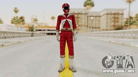 Power Rangers Lightspeed Rescue - Red para GTA San Andreas segunda pantalla