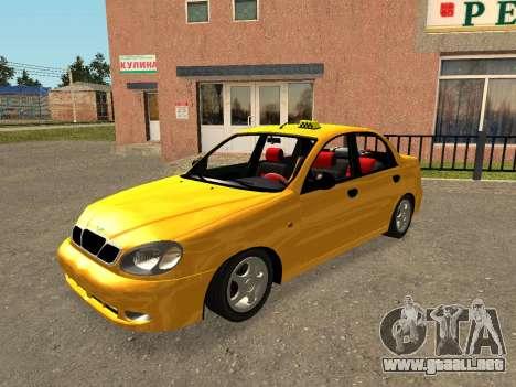 Daewoo Lanos (Sens) 2004 v2.0 by Greedy para el motor de GTA San Andreas