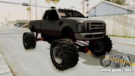Ford F-350 Super Duty Monster Truck para GTA San Andreas left