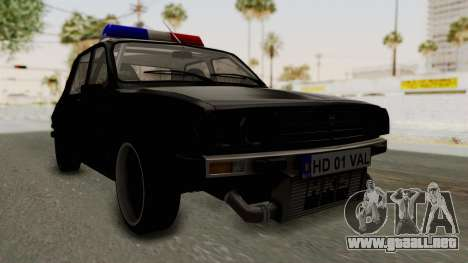 Dacia 1310 TX Turbo Police para la visión correcta GTA San Andreas