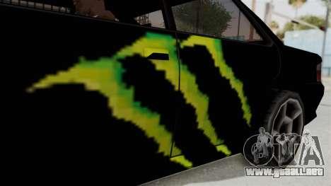 Monster Sultan para GTA San Andreas vista hacia atrás