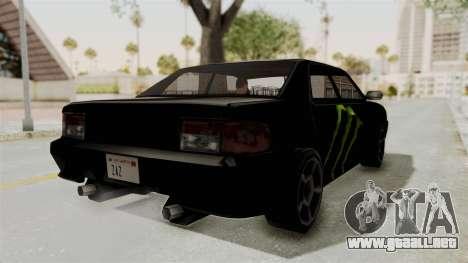 Monster Sultan para GTA San Andreas vista posterior izquierda