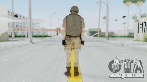 MGSV Phantom Pain CFA Vest v2 para GTA San Andreas tercera pantalla