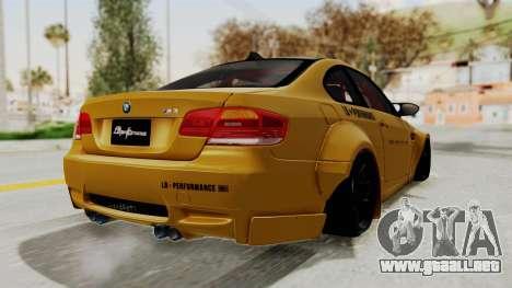 BMW M3 E92 Liberty Walk para la visión correcta GTA San Andreas