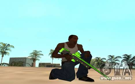Green chrome weapon pack para GTA San Andreas sexta pantalla