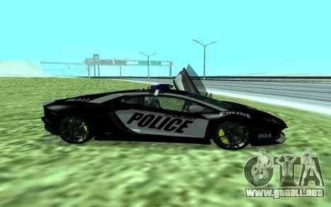 Lamborghini Reventon Police para GTA San Andreas left