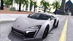W Motors Lykan Hypersport 2015 HQ para GTA San Andreas