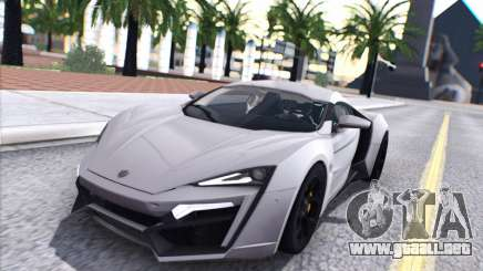 W Motors Lykan Hypersport 2015 HQ para GTA San Andreas