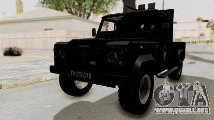 Land Rover Defender SAJ para GTA San Andreas