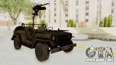 MGSV Jeep para la visión correcta GTA San Andreas