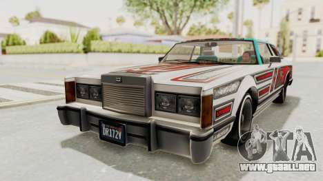 GTA 5 Dundreary Virgo Classic Custom v1 para visión interna GTA San Andreas