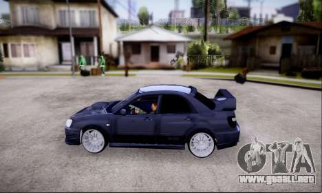 Subaru impreza WRX STi LP400 v2 para la visión correcta GTA San Andreas